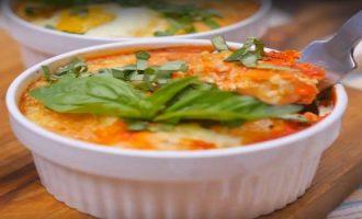 Восхитительная томатная яичница к завтраку