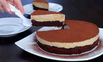 Шоколадный торт с кофейным суфле